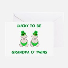 Grandpa O' Twins Greeting Cards (Pk of 10)