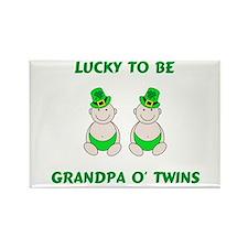 Grandpa O' Twins Rectangle Magnet