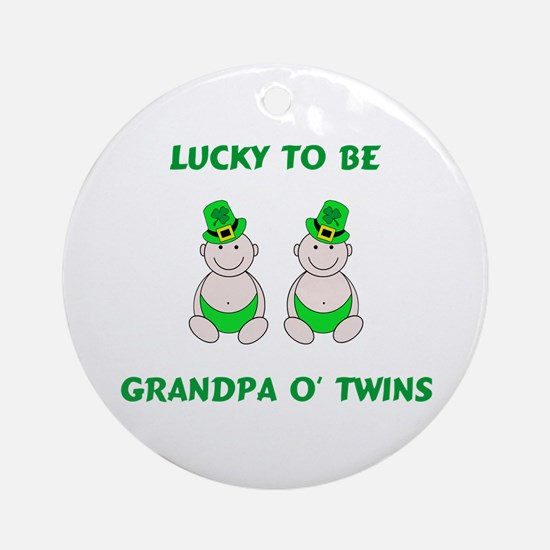 Grandpa O' Twins Ornament (Round)