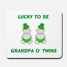 Grandpa O' Twins Mousepad