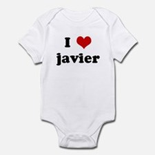 I Love javier Infant Bodysuit