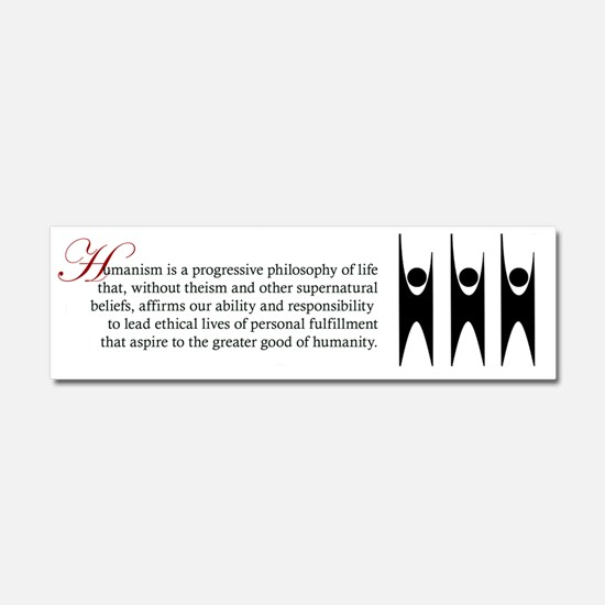 happy-human-text-big Car Magnet 10 x 3