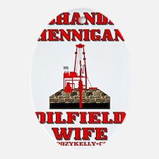 100% Pure Oilfield Trash ACa 1b A4 S Oval Ornament