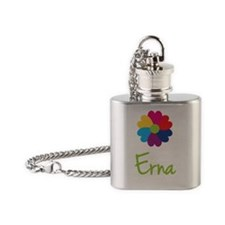 Erna-Heart-Flower Flask Necklace