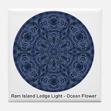 rill ocean flowe2 Tile Coaster