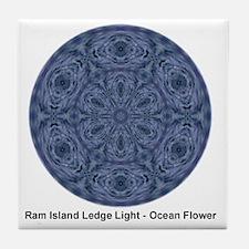 rill ocean flowe3 Tile Coaster