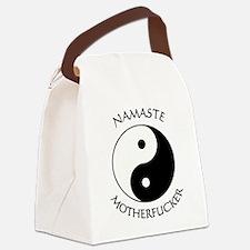 Namaste Motherfucker 3.pptx Canvas Lunch Bag