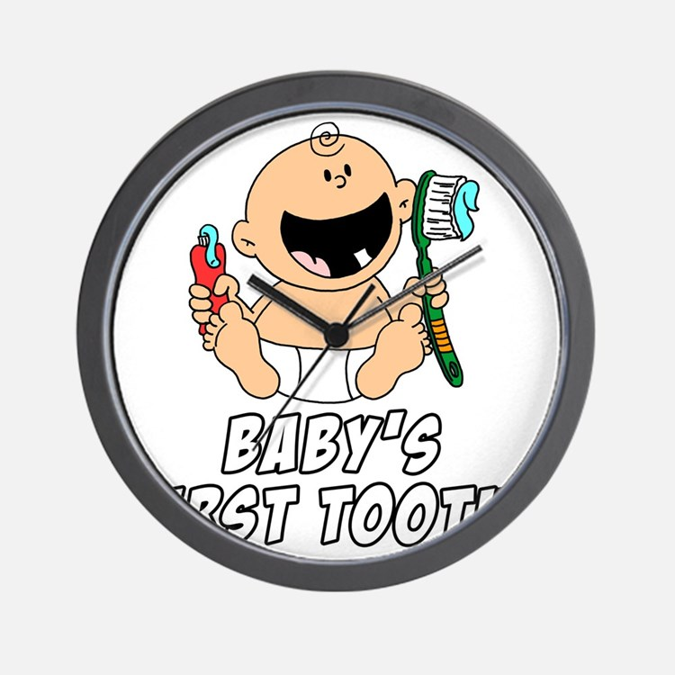 Babys First Tooth Wall Clock