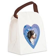 berner-heart Canvas Lunch Bag