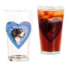 berner-heart Drinking Glass