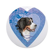 berner-heart Round Ornament