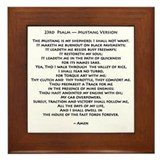 Mustang psalm Framed Tiles