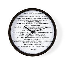 10x10_must psalmBKprntFlt copy Wall Clock