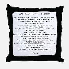 10x10_must psalmBKprntFlt copy Throw Pillow