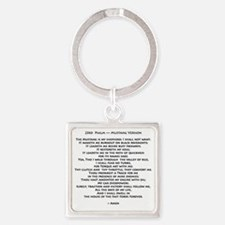 10x10_must psalmBKprntFlt copy Square Keychain