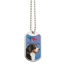 berner-oval key Dog Tags
