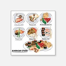 """What is American Food? Square Sticker 3"""" x 3"""""""