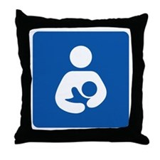 International Breastfeeding Throw Pillow
