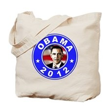 Obama 2012 logo Blue Tote Bag