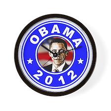 Obama 2012 logo Blue Wall Clock