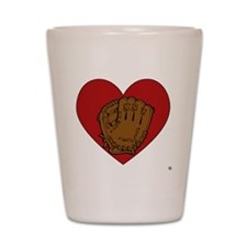 glove-heart copyright Shot Glass