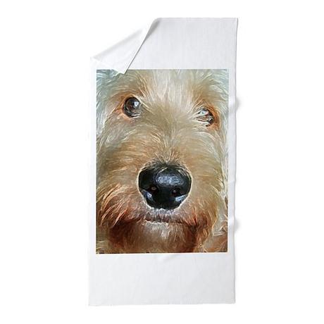 Squishy Nose : Big black squishy nose Beach Towel by valerievalera