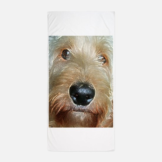 Big black squishy nose Beach Towel