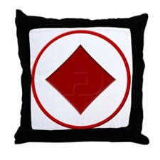 Diamond Suit Throw Pillow