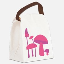Pink Mushrooms Canvas Lunch Bag