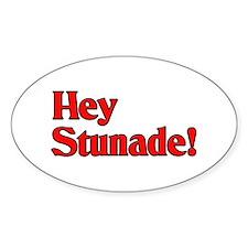 Hey Stunade! Oval Stickers