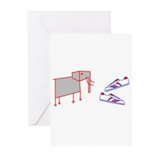 Elephant Shoes Greeting Cards (Pk of 10)