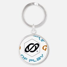 the art of play 20-dk Round Keychain