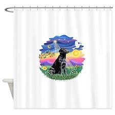 Twilight-BlackLab3 Shower Curtain