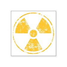 "RadiationSymbol_Drk Square Sticker 3"" x 3"""