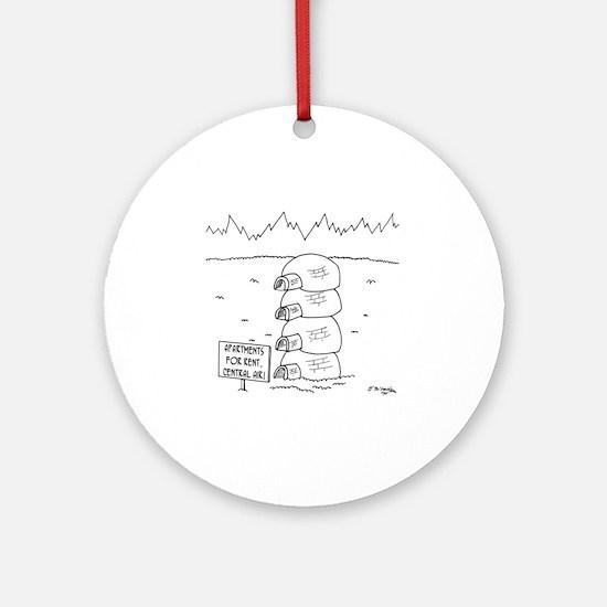5920_apartment_cartoon Round Ornament