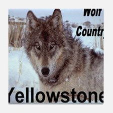 wolf_country_YNP Tile Coaster