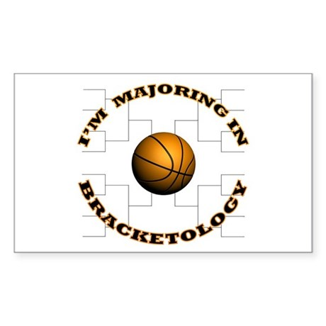 Bracketology Rectangle Sticker