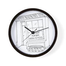 5922_pool_cartoon Wall Clock