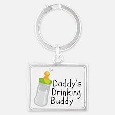 Daddys Drinking Buddy Landscape Keychain