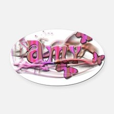 Amy10by10 Oval Car Magnet