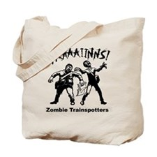 Zombie Train Spotters Tote Bag