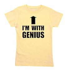 Im With Genius Black Girl's Tee