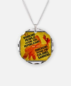 Working People Voting Repug  Necklace