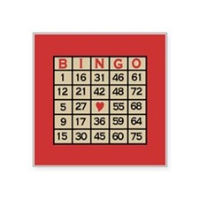 "Bingo Game Card Square Sticker 3"" x 3"""