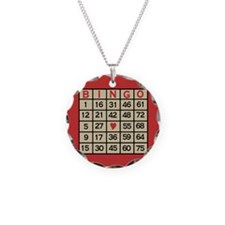Bingo Game Card Necklace