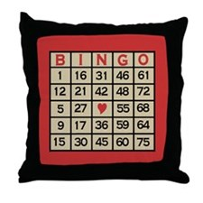 Bingo Game Card Throw Pillow