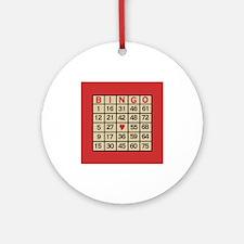 Bingo Game Card Round Ornament