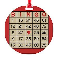 Bingo Game Card Ornament