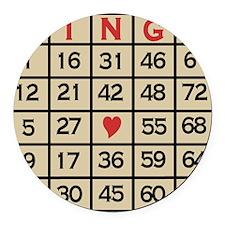 Bingo Game Card Round Car Magnet