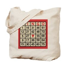 Bingo Game Card Tote Bag